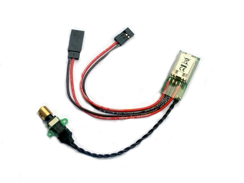 Voltage regulator 5.5V 7A with electronic switch strip to fly