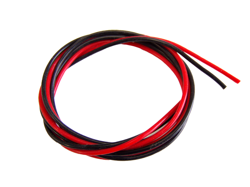 Silicon wire 2x0,75qmm RB 1m